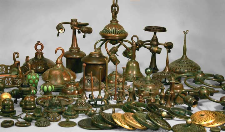 Paul crist studios tiffany hardware for the lamps fixtures of tiffany studios aloadofball Images